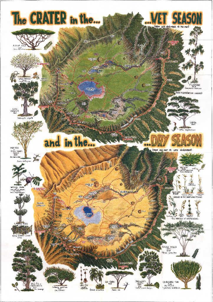 ngorongoro conservation area map tanzania safari